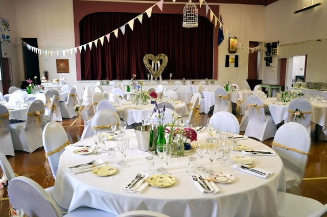 Coronation Hall decorated for a wedding