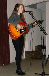 Jamie on stage