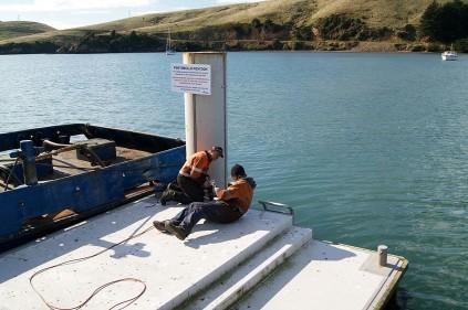Releasing the pontoon