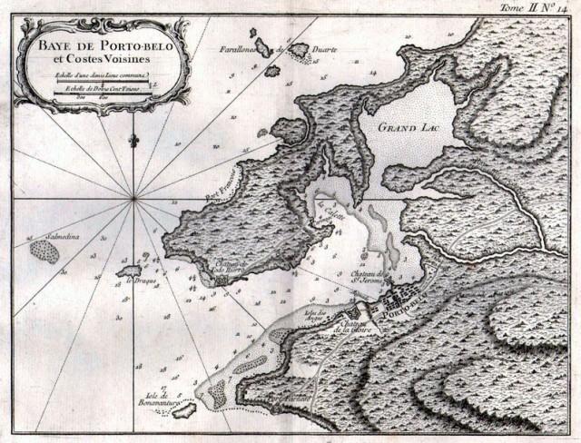 18th Century Porto Bello Map