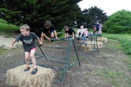 Over a hurdle