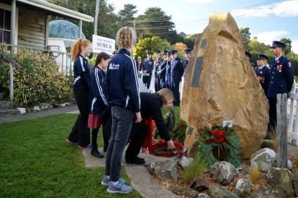 Portobello School wreath laying