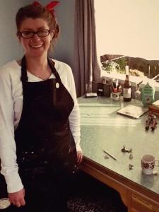 Britany in her studio